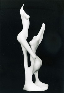 eberhard jordan 'erotische skulptur 02′ 1993 – zirbenholz – 60/25/20cm